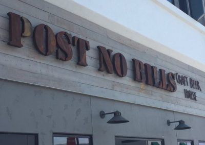 Post No Bills Sign